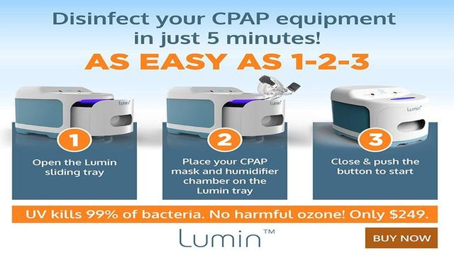 How Lumin CPAP cleaner works