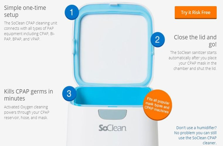Soclean 2 CPAP cleaner and sanitizer machine